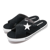 Converse 拖鞋 One Star Slide 黑 白 星星 帆布鞋底 女鞋 【PUMP306】 565527C