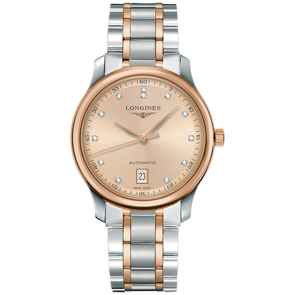 LONGINES 浪琴 Master 巨擘真鑽機械腕錶/手錶-玫塊金x雙色/38mm L26285997