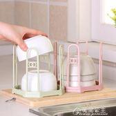 家居放碗架碗筷瀝水架廚房置物儲物收納架子免打孔瀝碗架塑料碗柜花間公主YYS