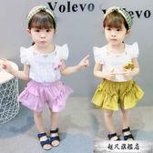 1嬰兒童裝2歲女寶寶時尚洋氣套裝4女童短袖兩件套4小童夏裝5衣服6-超凡旗艦店