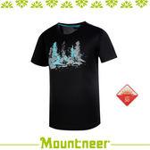 【Mountneer 山林 男 透氣排汗印花上衣/L《黑》】31P05-01/抗UV/UPF50+/透氣/排汗衣/上衣/休閒