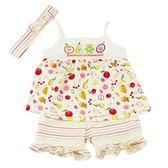 【愛的世界】純棉水果百匯細肩帶套裝/1~3歲-台灣製- ★春夏套裝