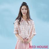 【RED HOUSE 蕾赫斯】小格紋襯衫(共2色) 任選2件899元
