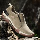 登山鞋戶外休閒運動鞋男士牛筋底男鞋耐磨軟底輕便登山鞋聖誕交換禮物
