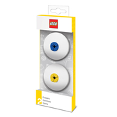 樂高 LEGO積木圓形橡皮擦-藍,黃色(2入)