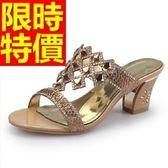 高跟涼鞋-水鑽大方耀眼女涼鞋2色55l47【巴黎精品】