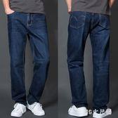 大尺碼厚款牛仔褲寬鬆彈力直筒褲加肥加大男士牛仔褲大碼肥佬褲 QQ18555『MG大尺碼』
