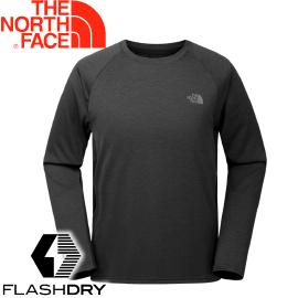 【The North Face 男款 FlashDry長袖排汗衣《黑》】2TZMPH5/長袖T恤/排汗衣★滿額送