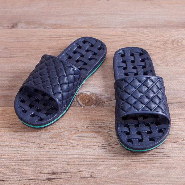EVA經典排水浴室拖鞋-深藍-生活工場