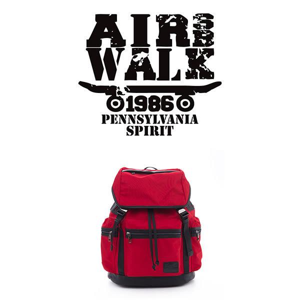 美國AIRWALK BOXER 尼龍防水綁帶大後背包-黑