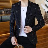 2019新款西服男休閒韓版帥氣潮流修身小西裝外套發型師薄款單上衣-Ifashion