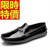 牛皮豆豆鞋-經典懒人真皮男休閒鞋1色59b10【巴黎精品】