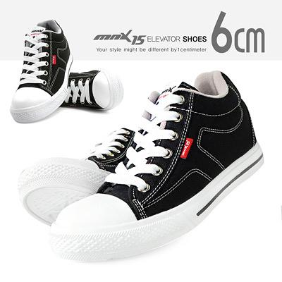 MNX15 - 牛仔帆布情侶款增高休閒鞋 CANVAS (2色) UP 6 cm