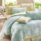 床罩被套組 七件式雙人兩用被床罩組/昆蒂娜藍/美國棉授權品牌[鴻宇]台灣製2079