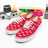 VANS 休閒時尚鞋 Authentic  紅白 31010107--女   6折好康