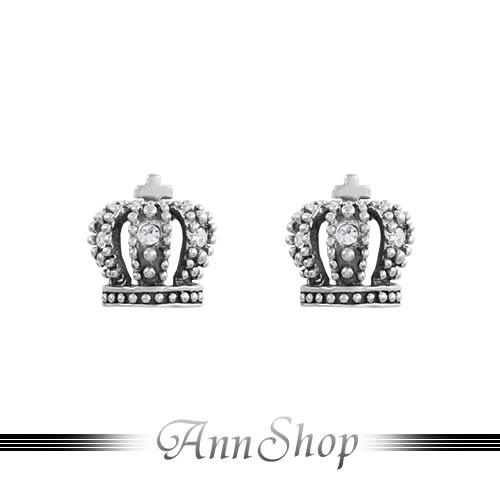 925純銀‧十字小皇冠耳環