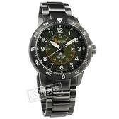 CITIZEN 星辰表 / BJ7095-56X / 光動能 簡易方位 兩地時間 日本機芯 防水200米 不鏽鋼手錶 軍綠x鍍灰 44mm