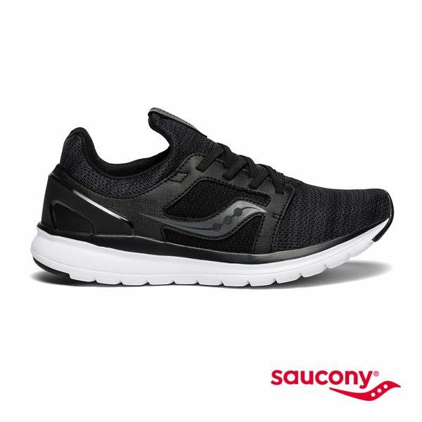 SAUCONY STRETCH & GO EASE 輕運動休閒女鞋-黑x麻黑