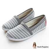 Hush Puppies 無印風網條咖啡紗TiTi懶人鞋-灰色