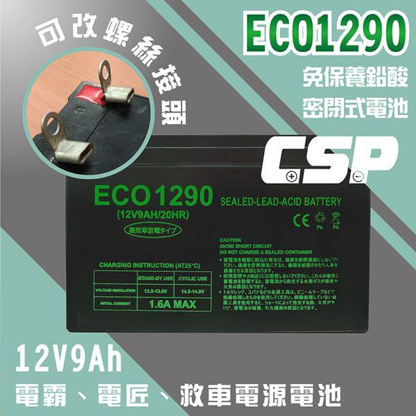ECO1290 12V9Ah 迷你傳統型超級電匠 電池更換 MP109 MP309 MP525 電池【客製化螺絲接頭】