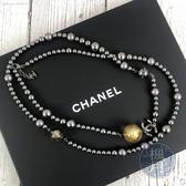 BRAND楓月 CHANEL 黑珍珠 雙C 長項鍊 配飾