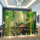 屏風花鳥中式屏風隔斷時尚簡約現代客廳臥室辦公室行動折疊布藝折屏wy