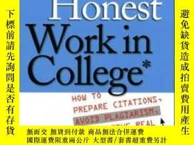 二手書博民逛書店Doing罕見Honest Work In CollegeY364682 Lipson, Charles Un