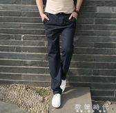 原創中國風薄款直筒大碼長褲「歐韓時代」
