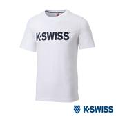 K-SWISS Crew Neck Jersey Tee印花短袖T恤-男-白