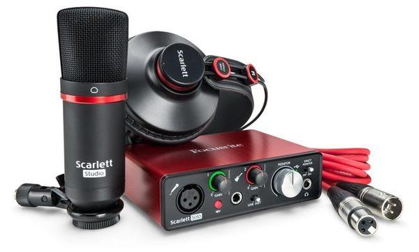 【金聲樂器】全新第二代!! Focusrite Scarlett Solo Studio (2nd Gen) 錄音套件