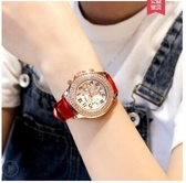 手錶女士學生滿天星簡約氣質機械法國小眾星空皮帶防水時尚ins風 雙十二全館免運
