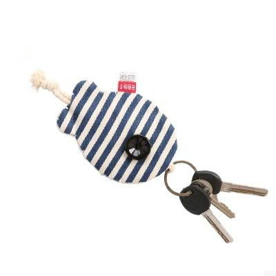 鑰匙包 三色補丁魚兒鑰匙包女韓國可愛情侶布藝創意薄款抽繩萌鑰匙包簡約 瑪麗蘇精品鞋包