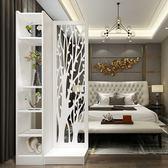 中式進門玄關櫃隔斷客廳現代簡約鏤空入戶座屏雙面創意裝飾屏風櫃 mks免運