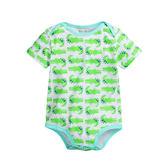 (零碼出清)  鱷魚印花短袖連身包屁衣 短袖 信封領 橘魔法Baby magic  現貨 新生兒 嬰兒