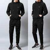 經典潮流韓式風格素色連帽造型休閒運動套裝