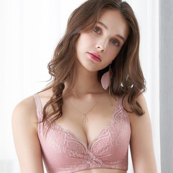 EASY SHOP-奢意夢境 大罩杯B-E罩內衣(芋粉色)
