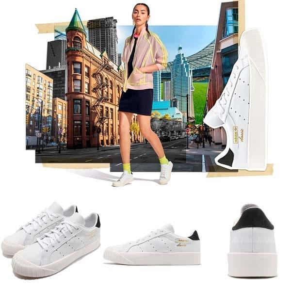 adidas 休閒鞋 Everyn W 白 黑 復古奶油底 金標 厚底 餅乾鞋 基本款 女鞋【ACS】 CQ2042