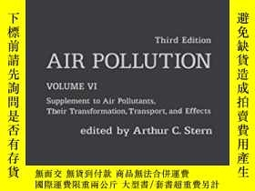 二手書博民逛書店Air罕見Pollution Volume 6 Third Edition: Supplement To Air