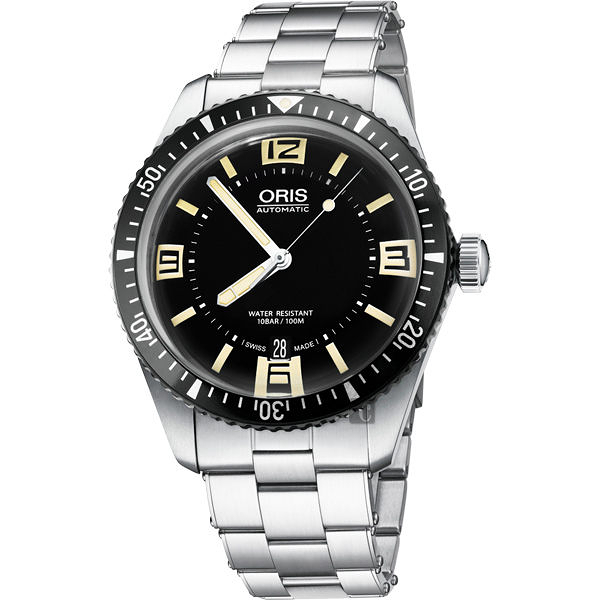 ORIS 豪利時 Divers Sixty-Five 1965復刻機械錶-黑/40mm 0173377074064-0782018