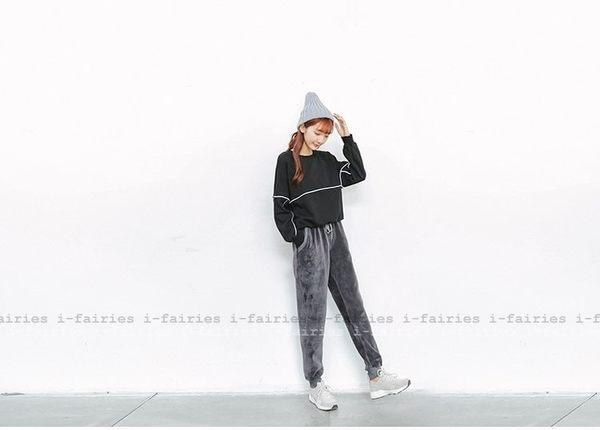 大學T 運動衛衣長袖T恤上衣★ifairies【41668】