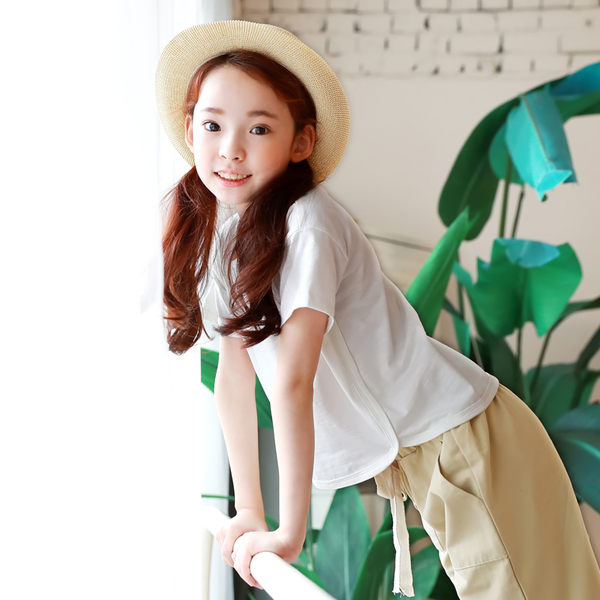 2017夏季新品女童純棉中大童上衣短袖T恤衫 2017春夏季