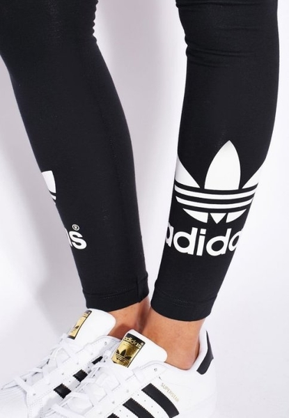 Adidas Originals leggibg 愛迪達 三葉草 AJ8153 內搭褲 緊身褲 瑜伽褲 大Logo九分褲