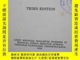 二手書博民逛書店Military罕見Preventive Medicine(軍事預防醫學)third edition 民國27年奇