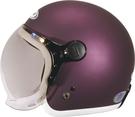 【東門城】ZEUS ZS382C 素(銀紫/白邊) 飛行帽 泡泡鏡  復古安全帽