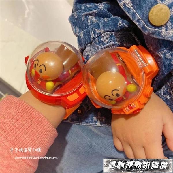 遙控車 兒童面超手表遙控車卡通迷你小汽車USB充電搖控手表感應玩具禮物 風馳