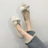 豆豆鞋 新款軟底毛毛鞋一腳蹬豆豆女鞋網紅平底百搭淺口單鞋