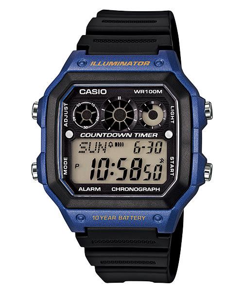 【CASIO宏崑時計】CASIO卡西歐復古電子錶 AE-1300WH-2A 生活防水  台灣卡西歐保固一年
