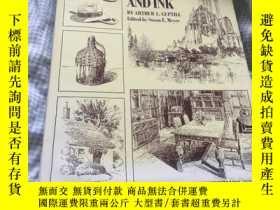 二手書博民逛書店Rendering罕見with Pen and Ink 建築設計