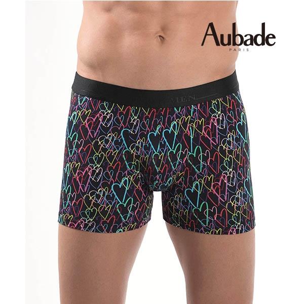 Aubade man-舒棉M-XL平口褲(塗鴨2件組)