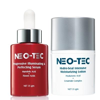 (75折)NEO-TEC妮傲絲翠 8%杏芙酸微煥膚保濕組(杏芙酸微煥膚亮白菁萃+高效鎖水保濕精華乳)